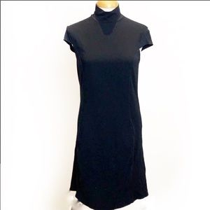 MaxMara Mock Turtleneck Stretch Knit Dress Med